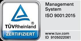 Siegel TÜV zertifiziert ID 9105022061